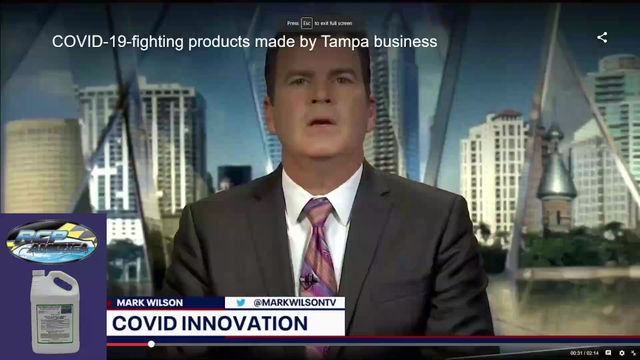 FOX 13 : Tampa business creating disinfecting products to fight COVID-19