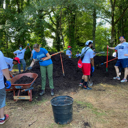 Atlanta Braves X WAWA Volunteer Day at the Black Cracker Field
