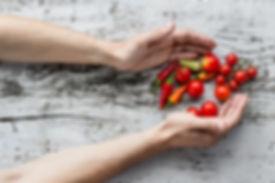 Freshly Picked Vegetables cherry tomatoes
