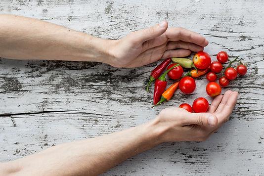 Frisch gepflückten Gemüse