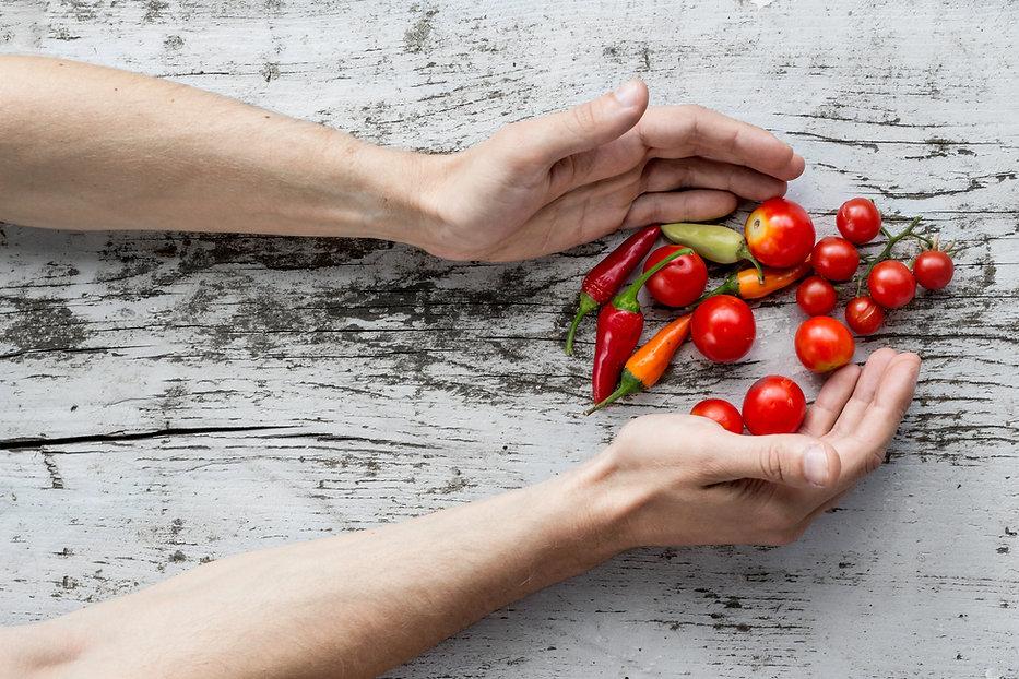 Légumes fraîchement cueillis