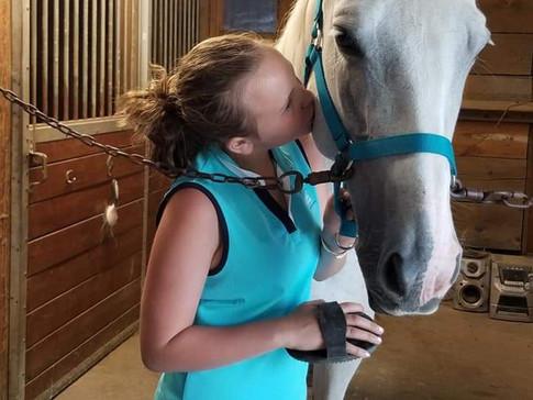 Emma et un cheval