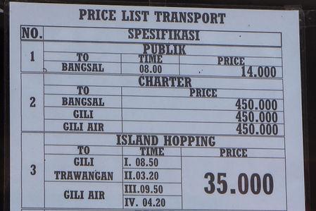 Från Gili Meno till Trawangan och Air