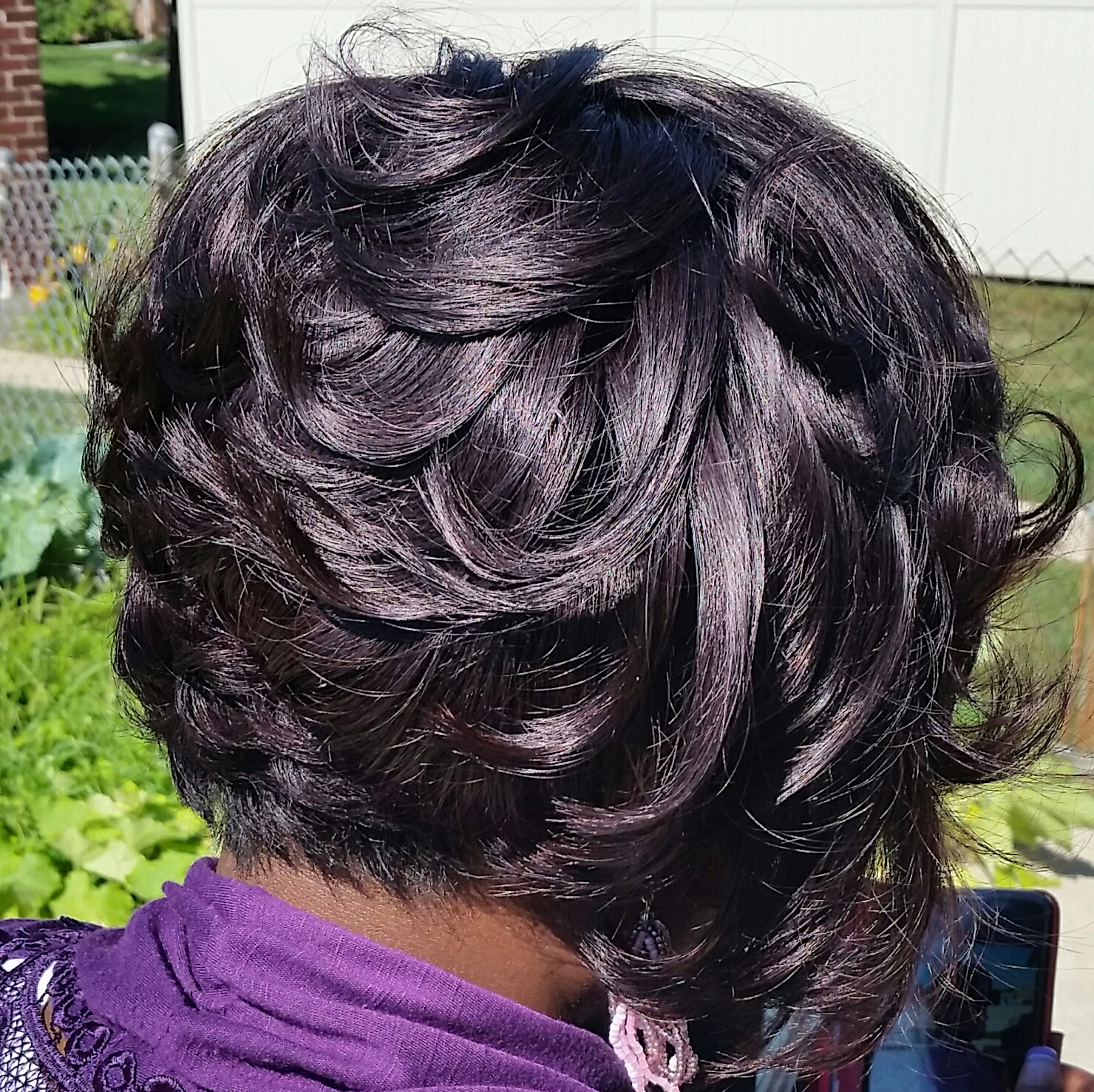 Sew-in w/short cut
