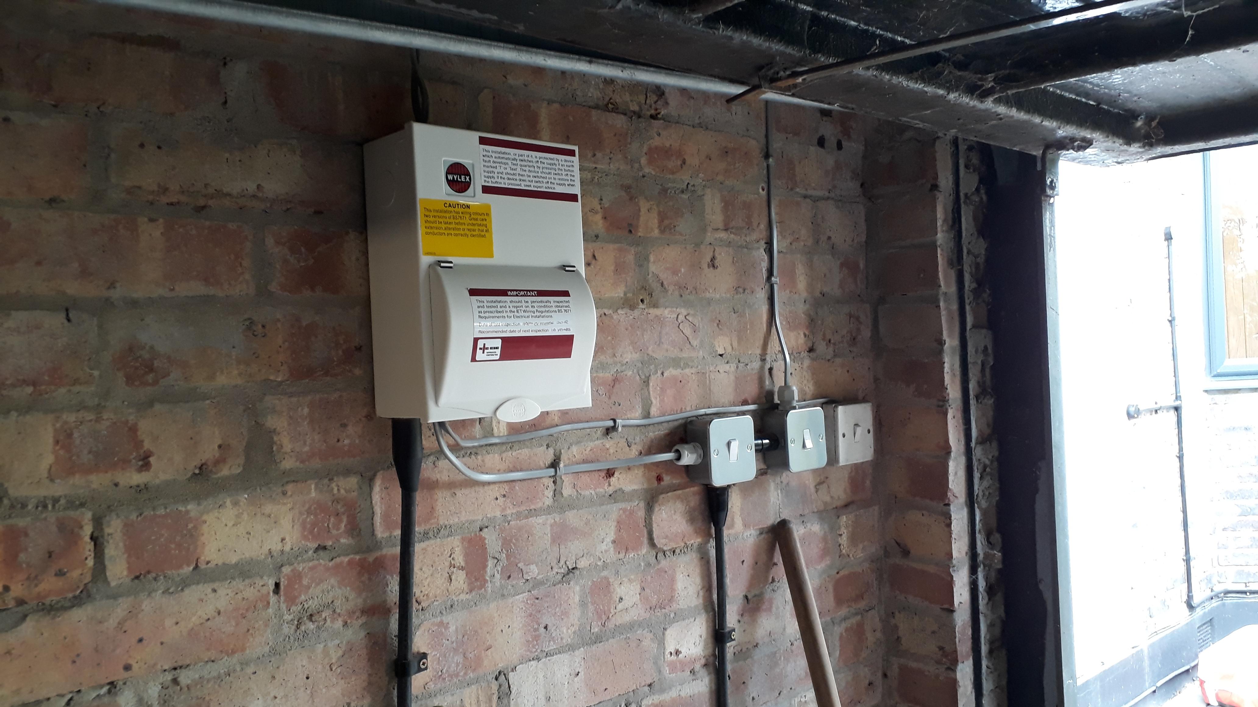 Electrical Installation Services Wiring Regulations Cooker Switch Garage Ccu