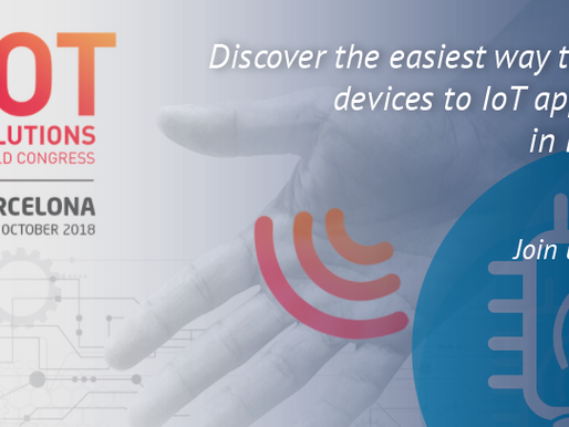 JOIN US AT IOT SOLUTIONS WORLD CONGRESS 2018