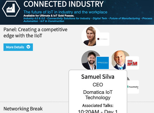 """Hear Domatica's CEO talk at IoT Tech London Conference"""