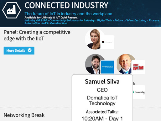 """Hear Domatica's CEO talk at IoT Tech London Conference"""