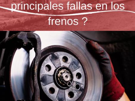¿Conoces las principales fallas en los frenos?