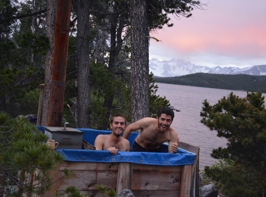 The old hot tub