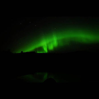 Aurora borealis lights the nuk tessli ni