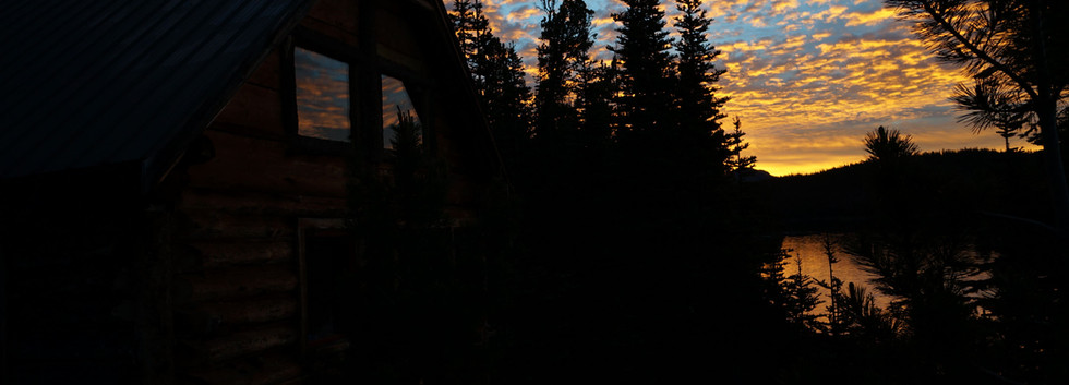 Lake front sunset