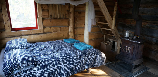 Chris's Cabin queen bed