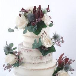 fresh flower wedding cake 1 KMcakesEindh