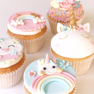 Unicorn cupcake workshop - KMcakesEinsho