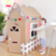 Cardboard play house KMCakesEindhoven.jp