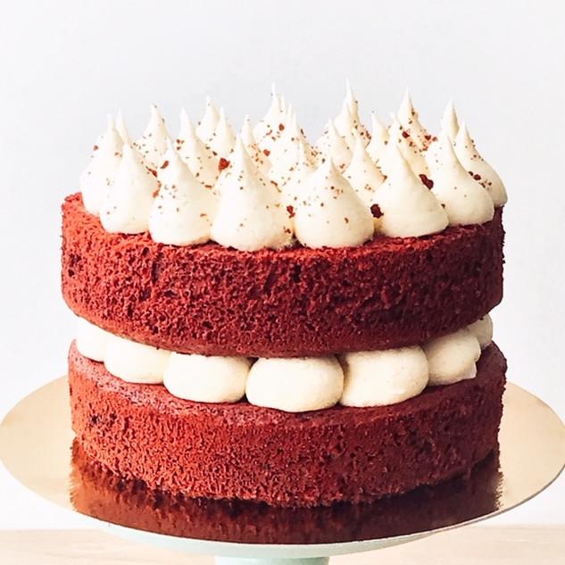 Naked red velvet cake KMcakesEindhoven.j