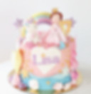 unicorn mermaid fairy princess rainbow stars birthday cake