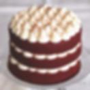 naked cake birthday cake red velvet verjaardagstaart