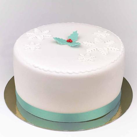 Large holly Christmas cake KMcakesEindho