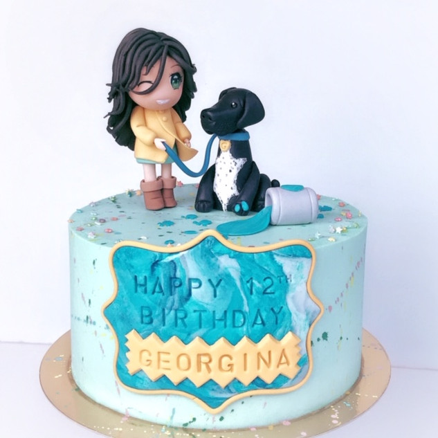 anime girl birthday cake KMcakesEindhove
