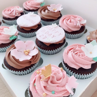 pretty pink cupcakes Meghna KMcakesEindh