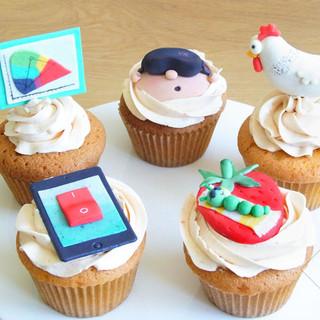 personal cupcakes for sjoerd KMcakesEind