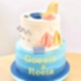Swimming pool birthday cake KMcakes eind