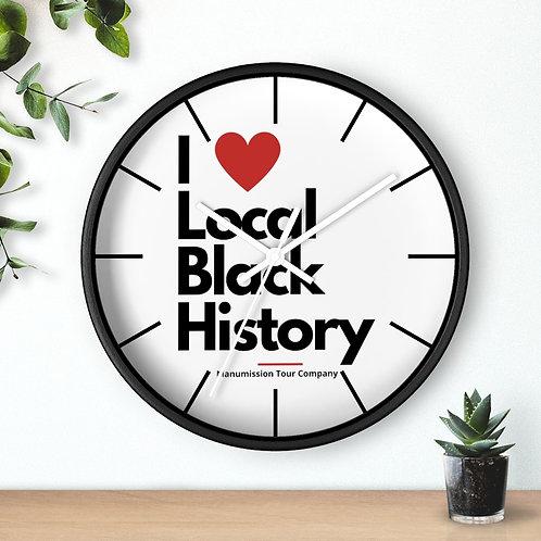 """""""I Heart Local Black History"""" Wall clock"""