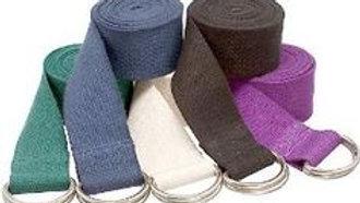 Cintos yoga de algodón y evillas cromadas