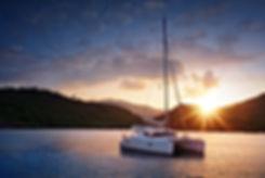 Luxury yacht charter, catamaran sailing, sailing vacation