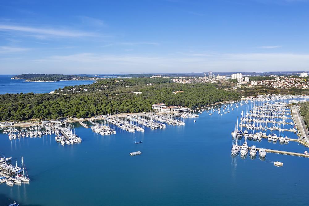 pula, yacht charter, croatia, sailing route, kvarner