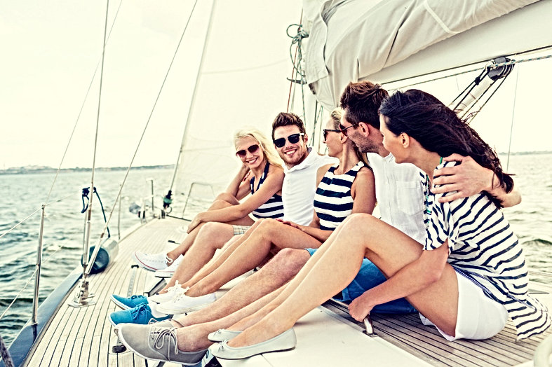 vacation, travel, sea, friendship and pe