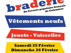 Braderie Solidaire à Lasserre - 25 et 26 février 2017