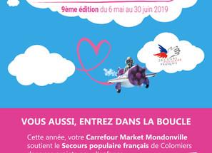 Les Boucles du Coeur - Le don en caisse au Carrefour Market Mondonville