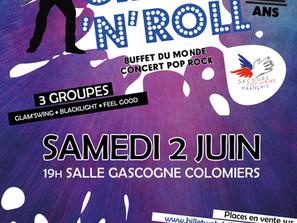 Soirée Crock'n'Roll - Samedi 2 juin à Colomiers