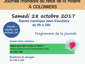 Journée Mondiale du Refus de la Misère Samedi 28 octobre à l'espace nautique de Colomiers
