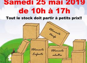 Déstockage Solidaire - samedi 25 mai - Salle Gascogne de Colomiers