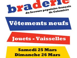 Braderie Solidaire BRAX - Samedi 24 et Dimanche 25 Mars