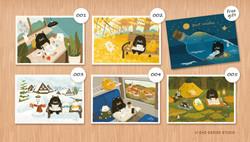 肥貓套組第一組 / 為你寫張卡片系列
