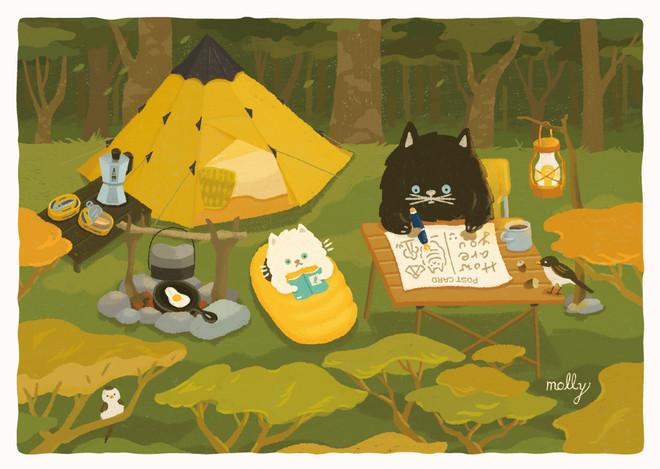 013-森林露營的早晨
