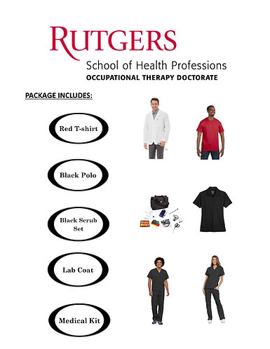 Rutgers SHP - Occupational Therapy Package (Extended Sizing 2XL-5X