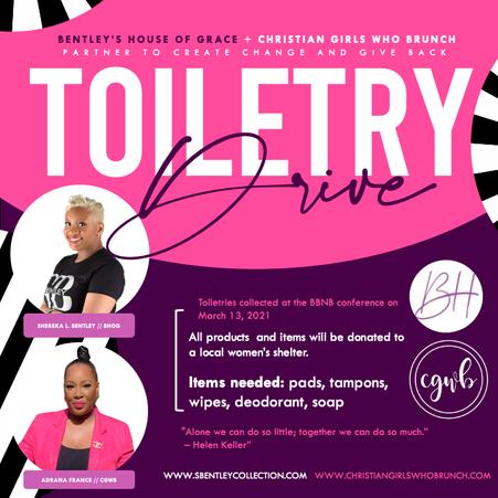Toiletry drive partner