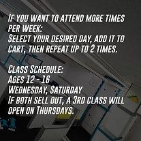 Beginner Classes | Age 12 -16 | 5 Week