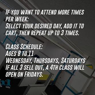 Beginner Classes | Age 8 - 11 | 5 Week