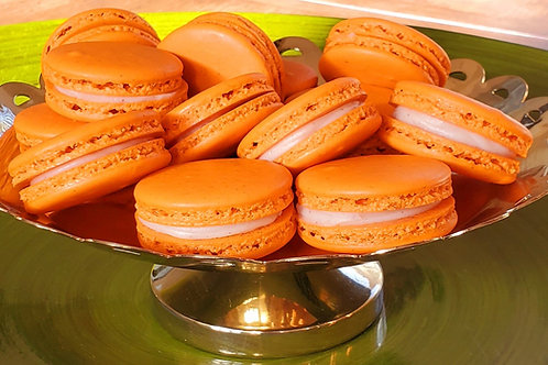 Orange Cardamom French Macaron