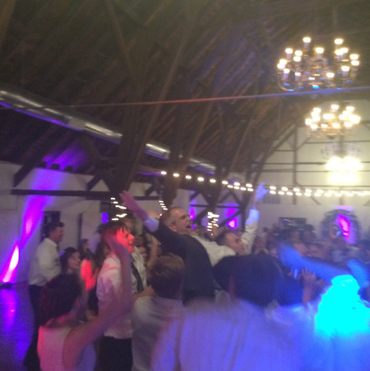 Father of Groom crowd surfing.  Nate and Lauren - September 2015