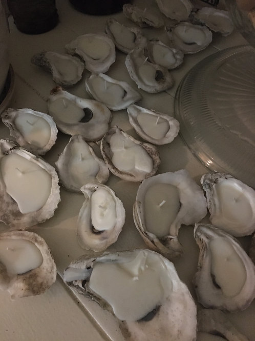 Custom Order Oyster Shell Candles