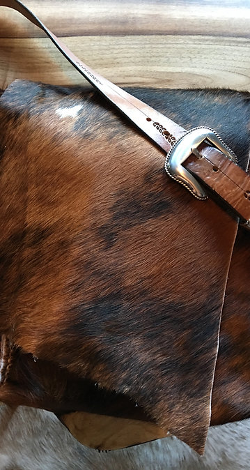 Hair-On Cowhide Messenger Bag