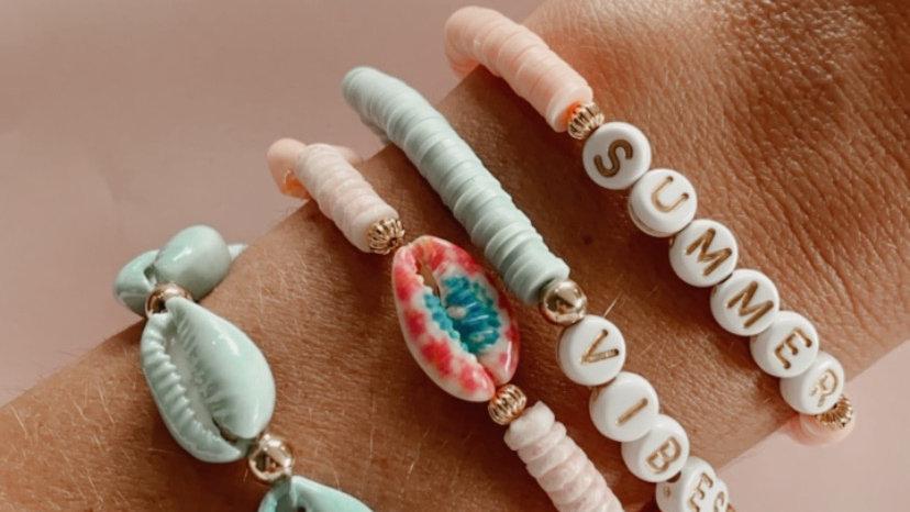 Ensemble de 4 bracelets summer